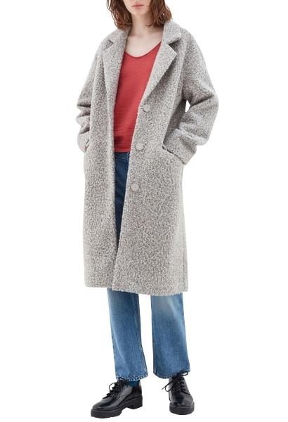 Manteau faux mouton MADONNA Gris chine