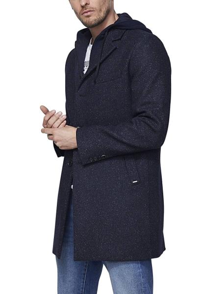 Manteau à parment Bleu marine