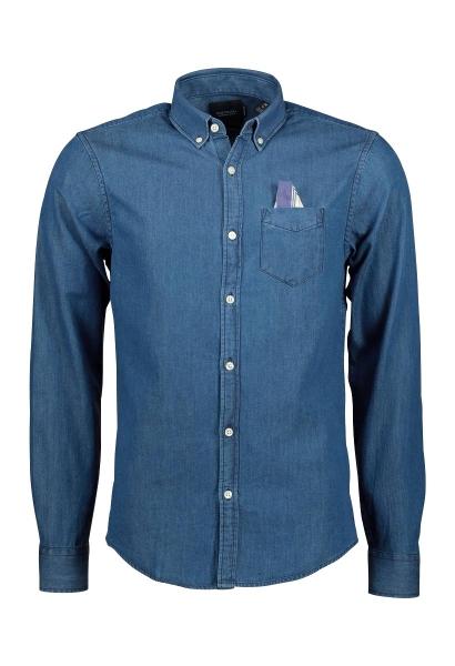 Chemise manches longues denim Bleu indigo