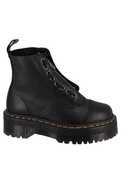 Boots plateformes avec zip sur le devant SINCLAIR Noir