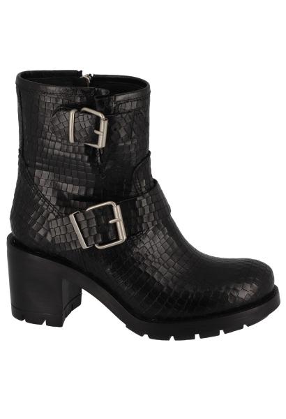 Boots double boucles effet croco KERATON Noir