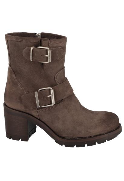 Boots à talon double boucles KERATON Taupe
