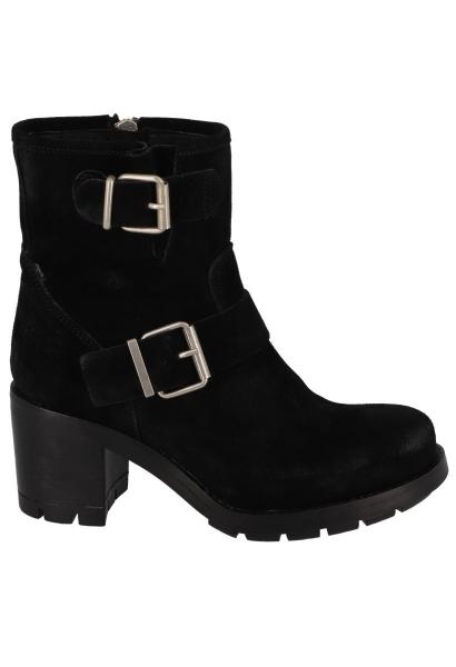 Boots à talon double boucles KERATON Noir