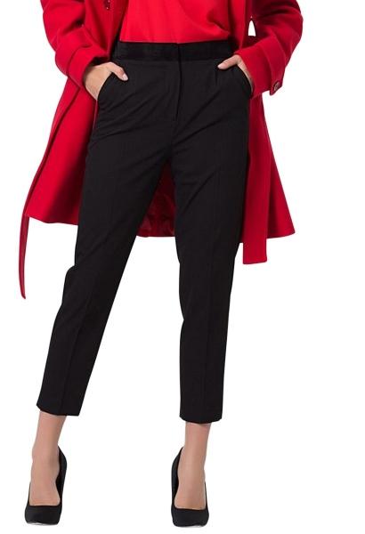 Pantalon tailleur bimatières MILSEN Noir