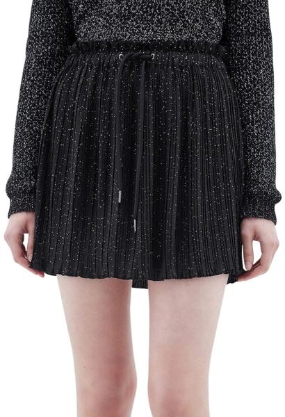 Jupe courte plissée pailletée JPLYA Noir