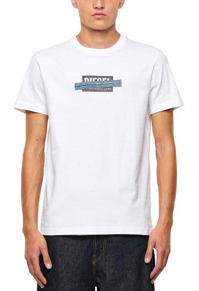 Tee shirt manches courtes logo poitrine DIEGOS X40 Blanc