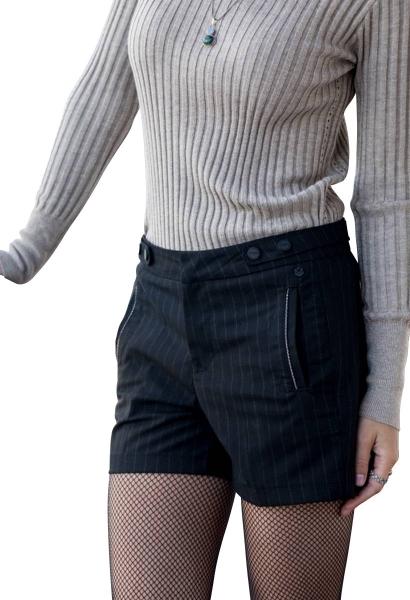 Short à rayure MALENA Noir