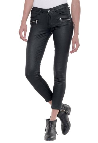 Jean slim enduit poches zippées POWERC CERF Noir