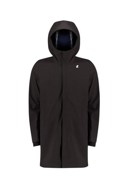 Parka capuche poches zippées THOMAS BONDED Noir