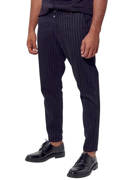 Pantalon rayé IRWIN Noir