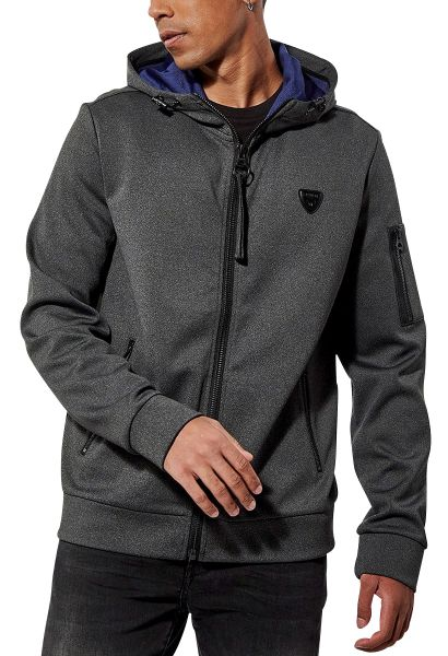 Sweat zippé capuche MACK Noir