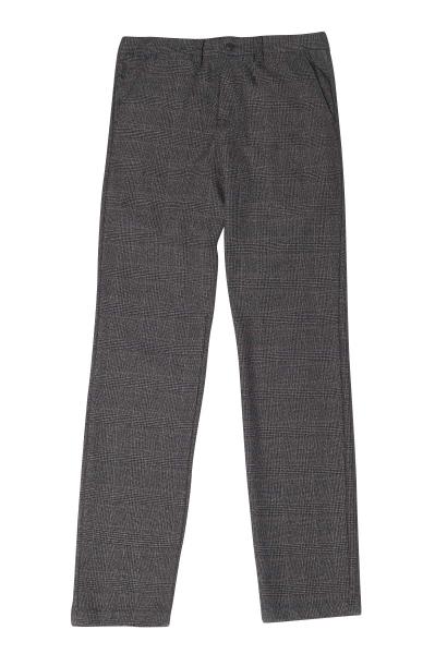 Pantalon chino slim à carreaux NOAH Noir
