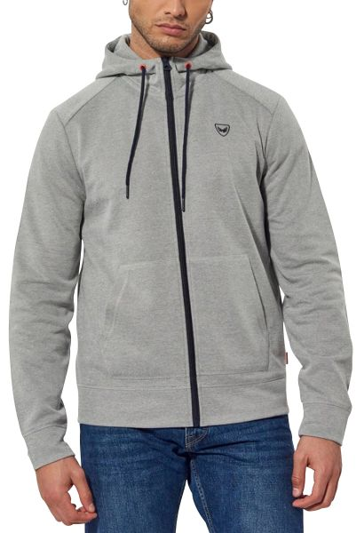 Sweat zippé à capuche KETH Gris chine