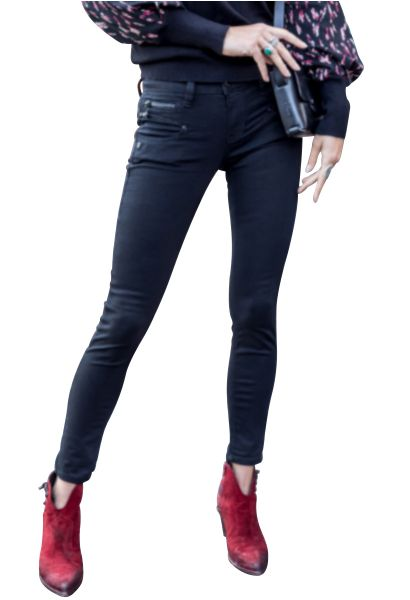 Jean cropped super slim ALEXA Noir