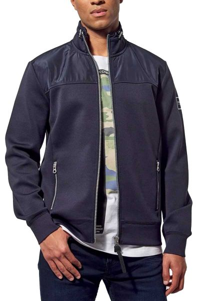 Sweat zippé coupe regular KAEL Bleu marine