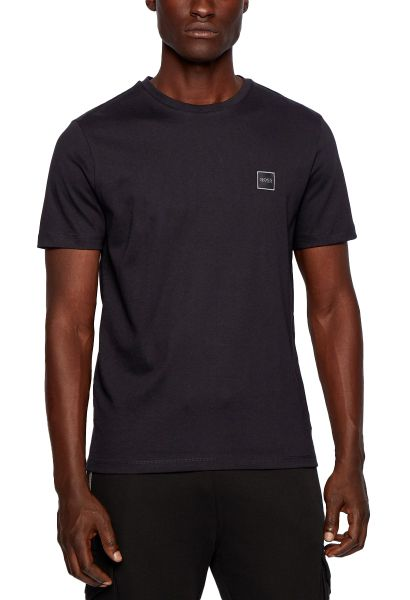 Tee shirt manches courtes basic col rond TALES Noir