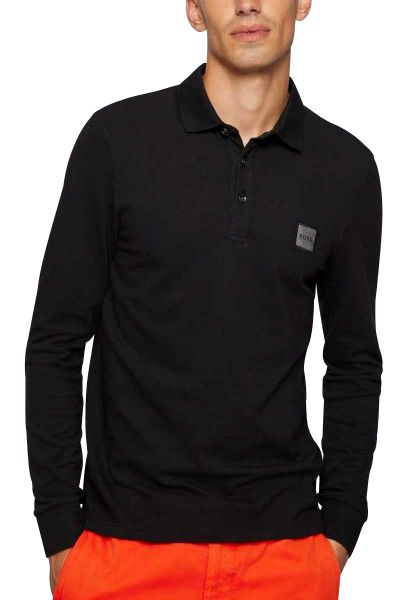 Polo manches longues slim fit PASSERBY Noir
